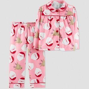 Carter's Just One You Girls' 2pc Coat Pajama Set
